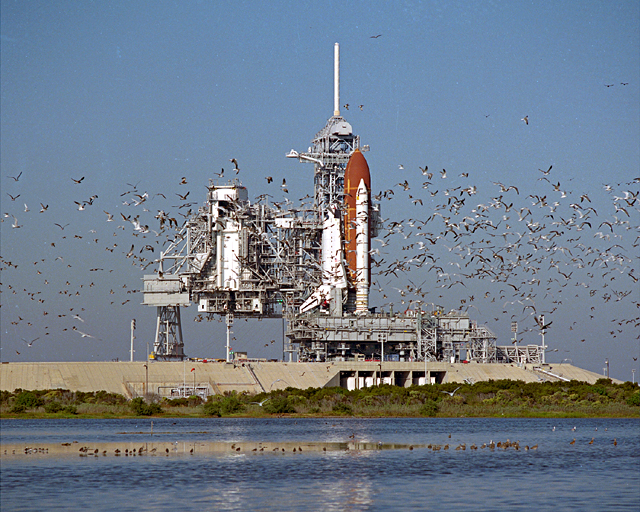 Space History Photo: STS-27 Rollout