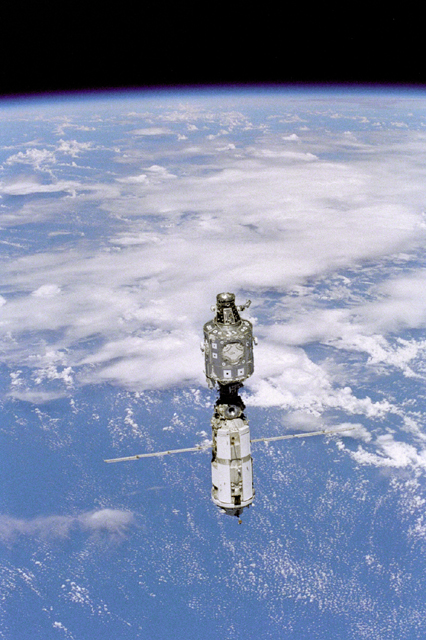Space History Photo: View of the ISS during Flyaround