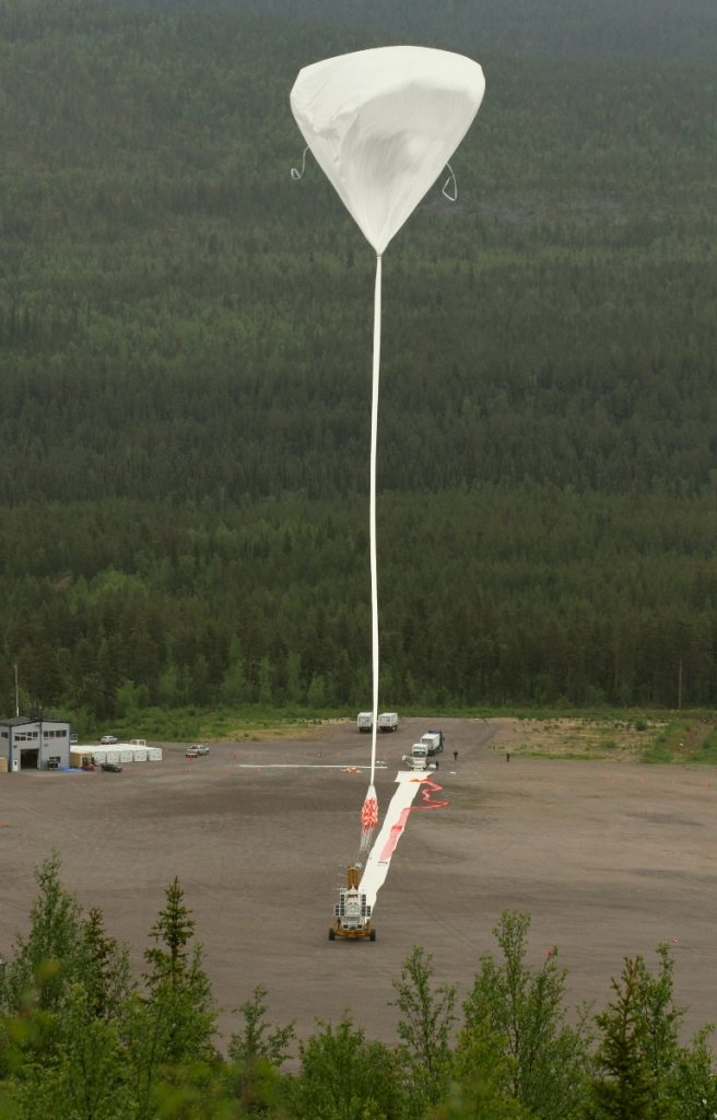 Giant Balloon Launches Sun-Studying Telescope