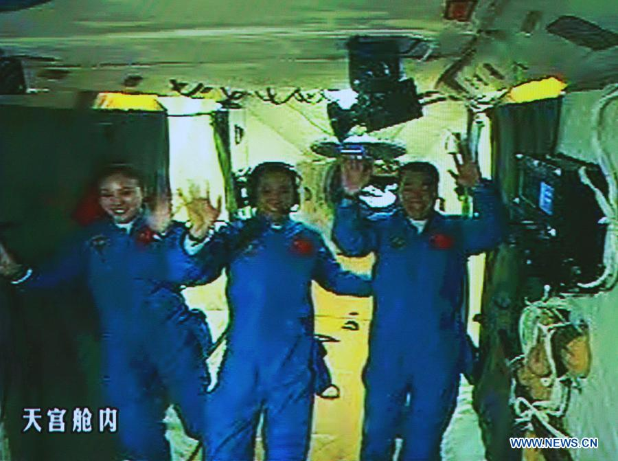 Three Chinese Astronauts Dock to Nation's Space Station