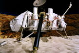 NASA's Viking project found a place in history when in 1976 it became the first U.S. mission to land spacecraft successfully on the surface of Mars. The life-detection landers may have measured signatures of perchlorates, in the form of chlorinated hydrocarbons.