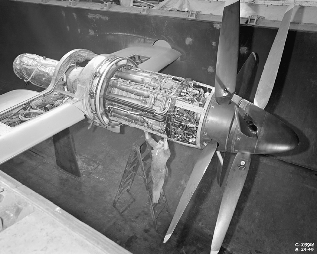 Space History Photo: Python Engine Installed in Altitude Wind Tunnel