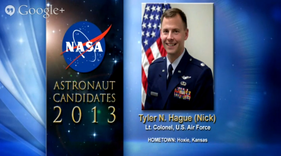 Astronaut Candidate Tyler N. Hague