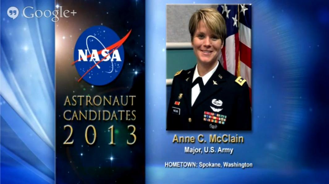 Astronaut Candidate Anne C. McClain