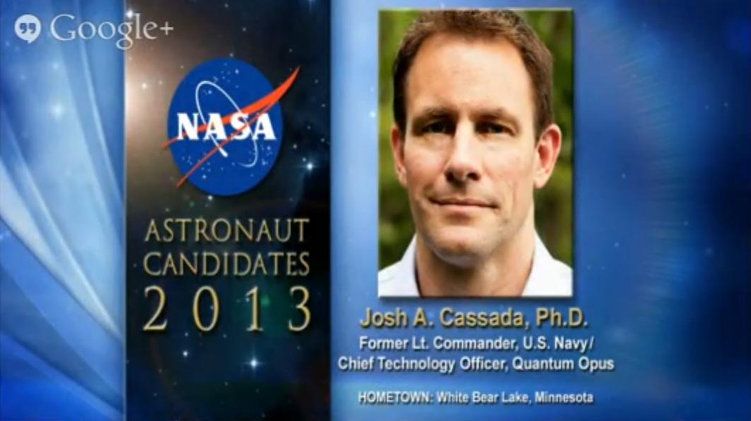 Astronaut Candidate Josh A. Cassada