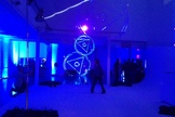 Officials from Lone Signal rented out a Manhattan loft, complete with a laser light show, to officially launch the project's website. Image released June 18, 2013.
