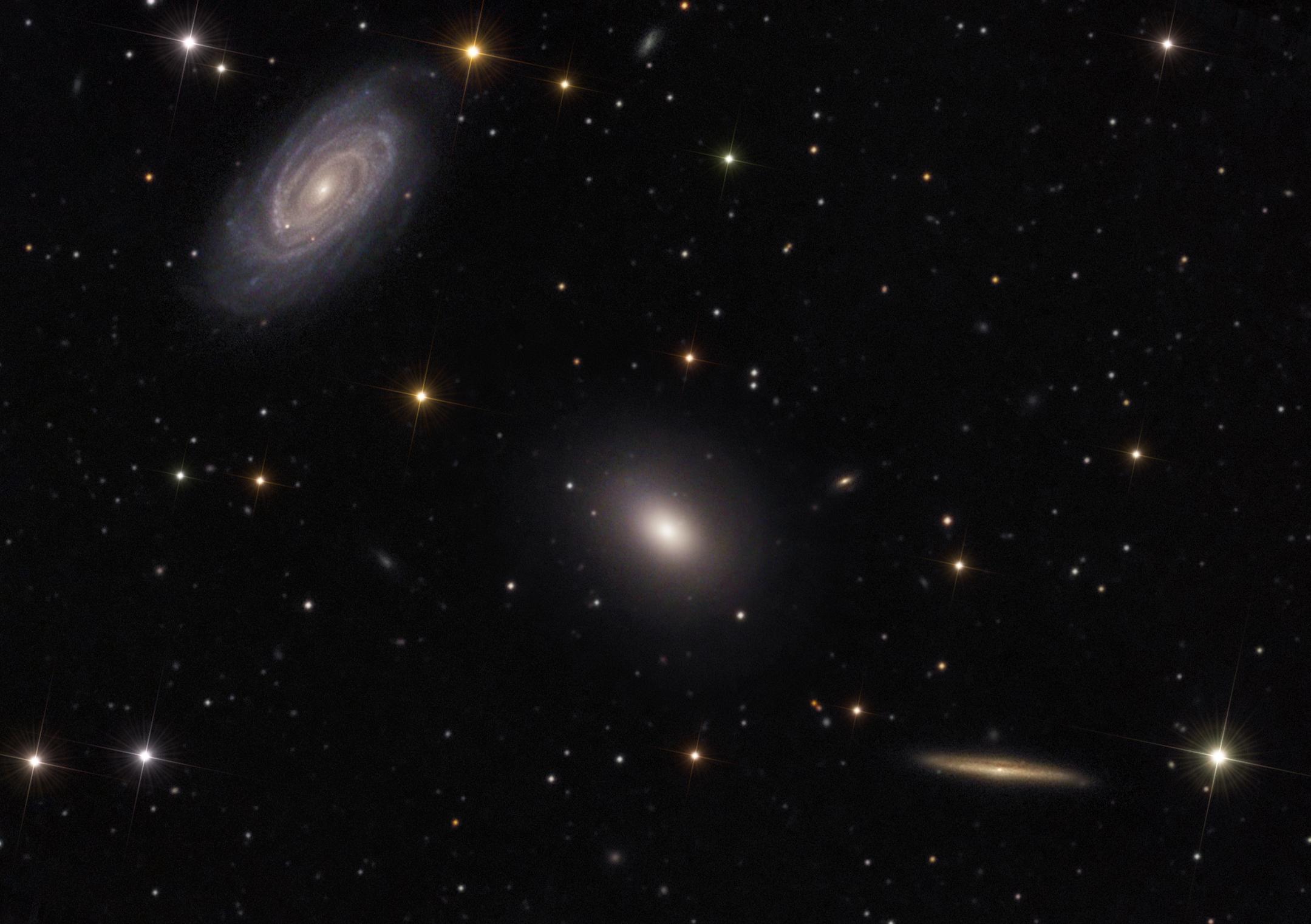 Three's Company In Space: Stargazers Spot Galaxy Trio