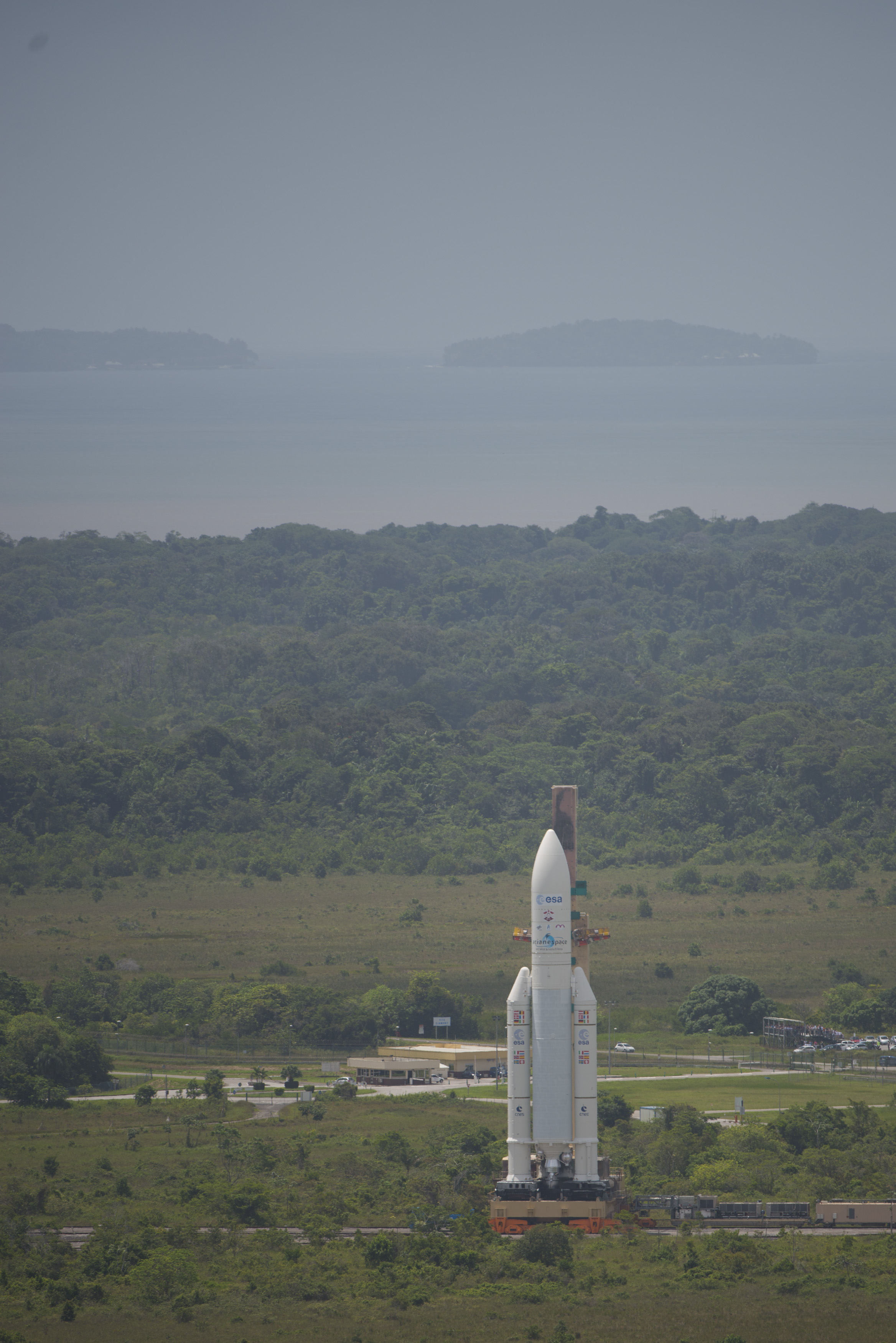 Transfer of Ariane 5 From Final Assembly Building