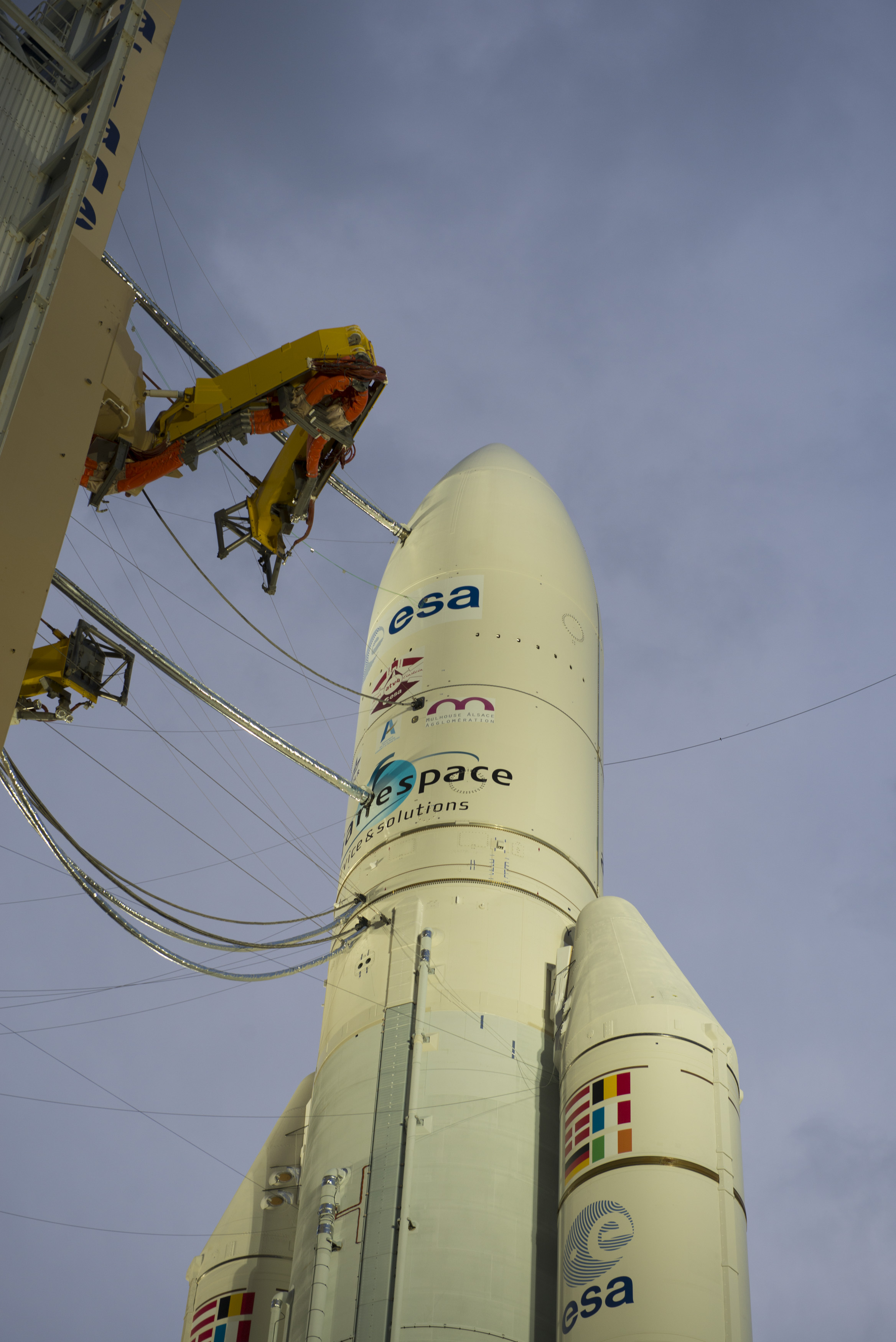 Ariane 5 with ATV-4 Ready on Launch Pad