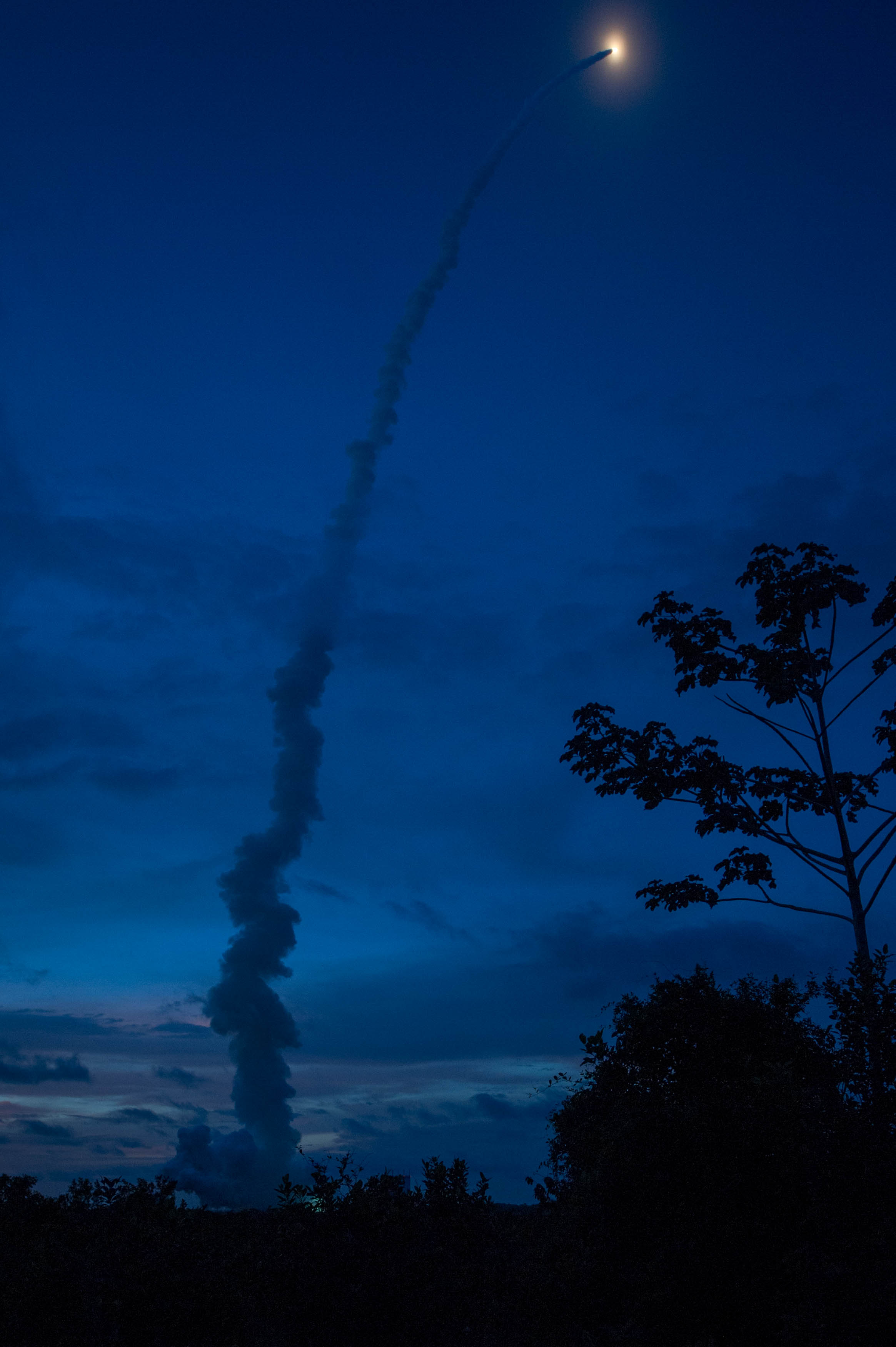 Ariane 5 Blasts Off into the Sky