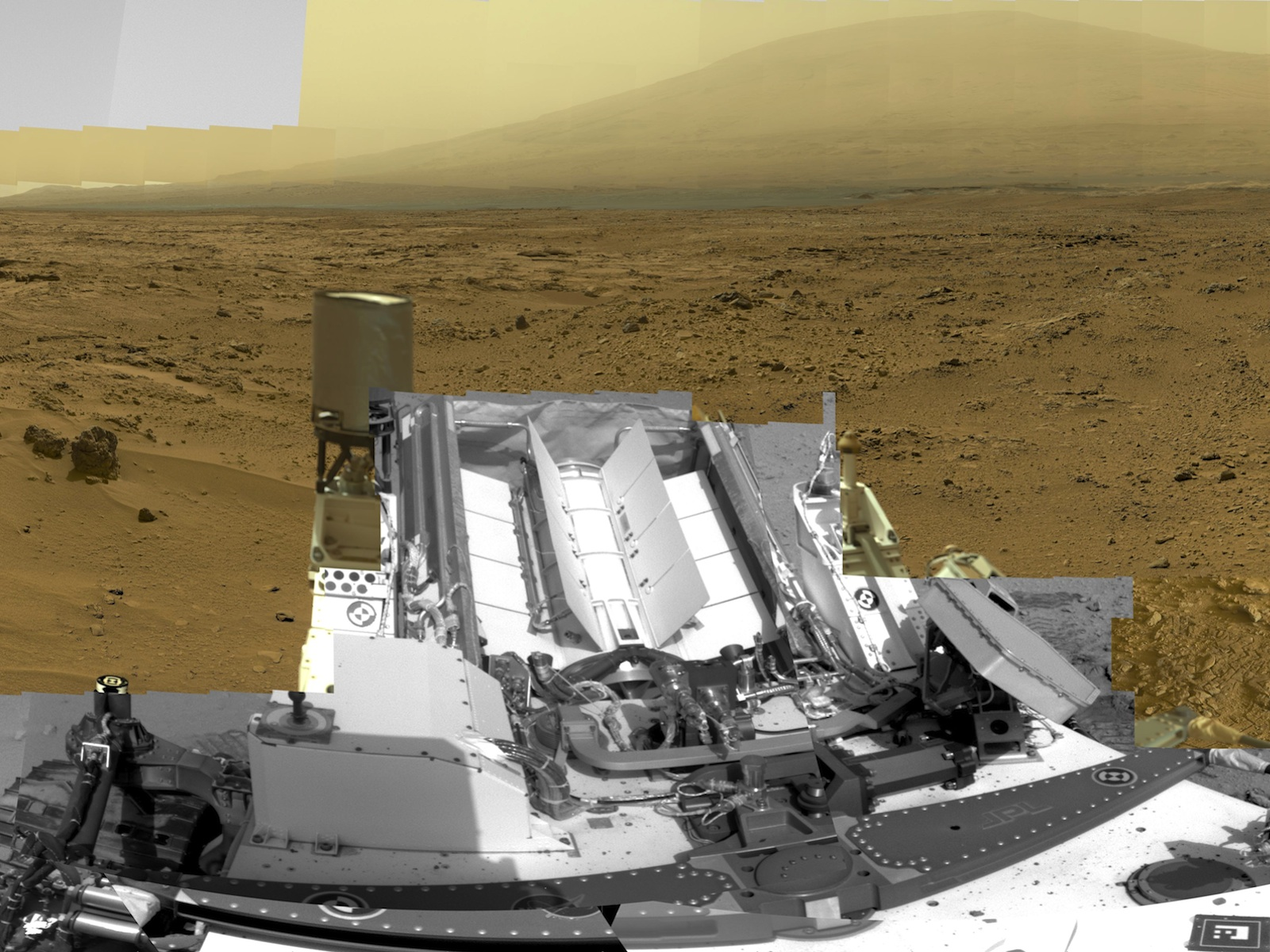 Curiosity View From Rocknest space wallpaper