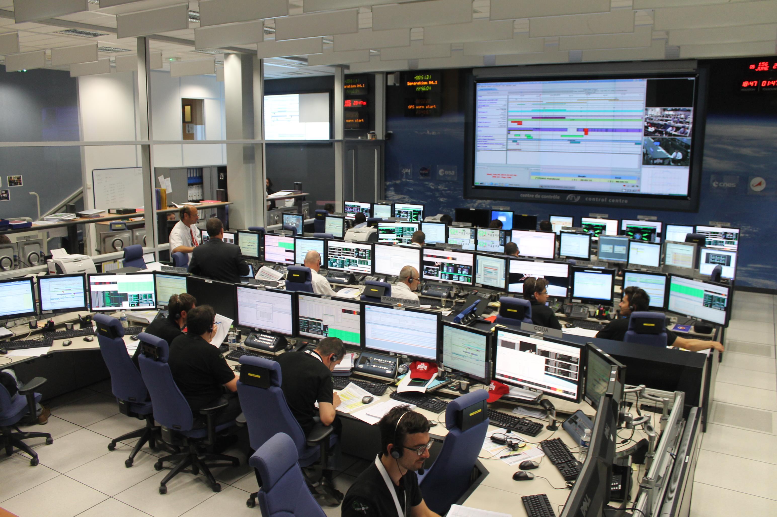 ATV Control Centre During Launch