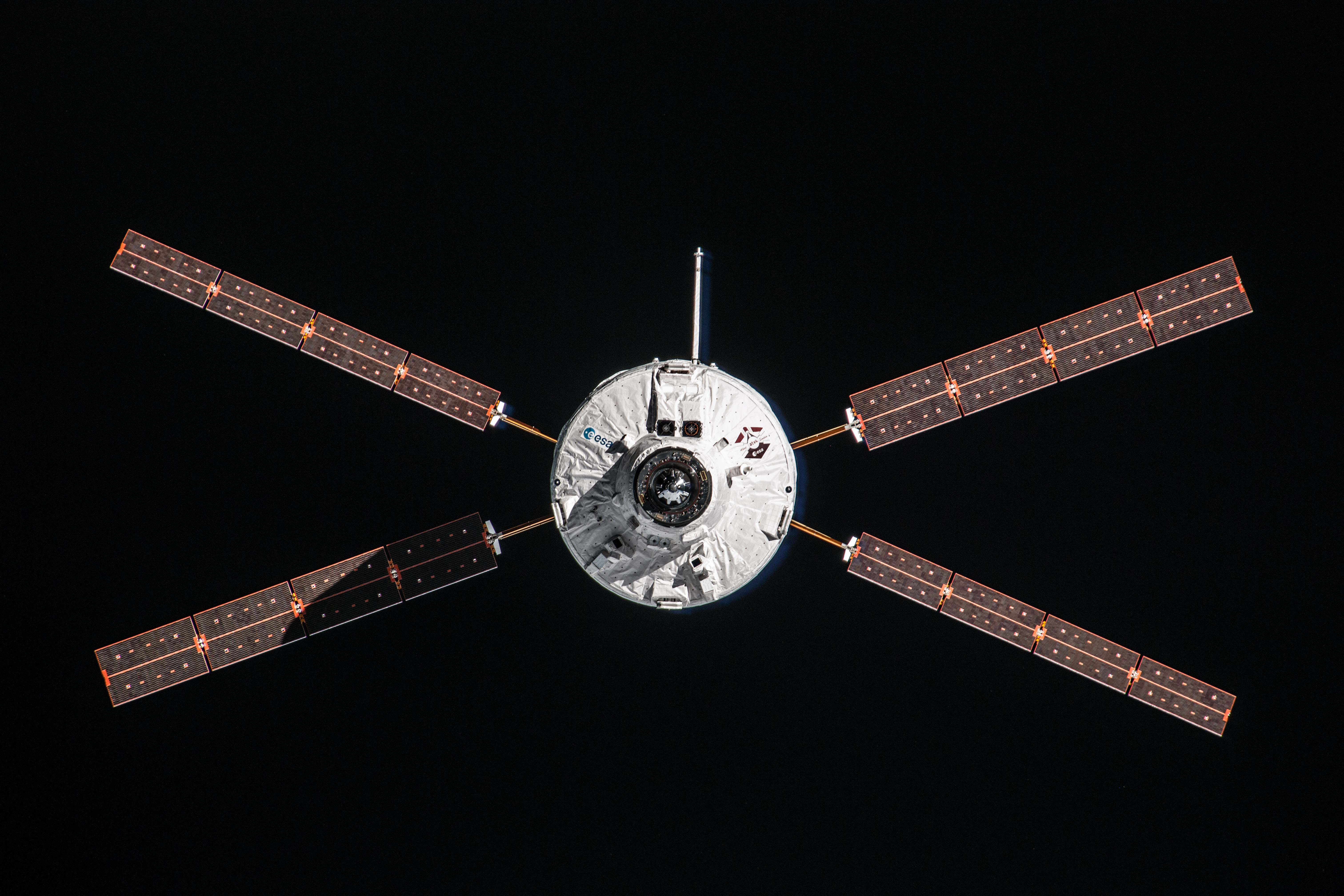 ATV-4 Docking Solar Panels