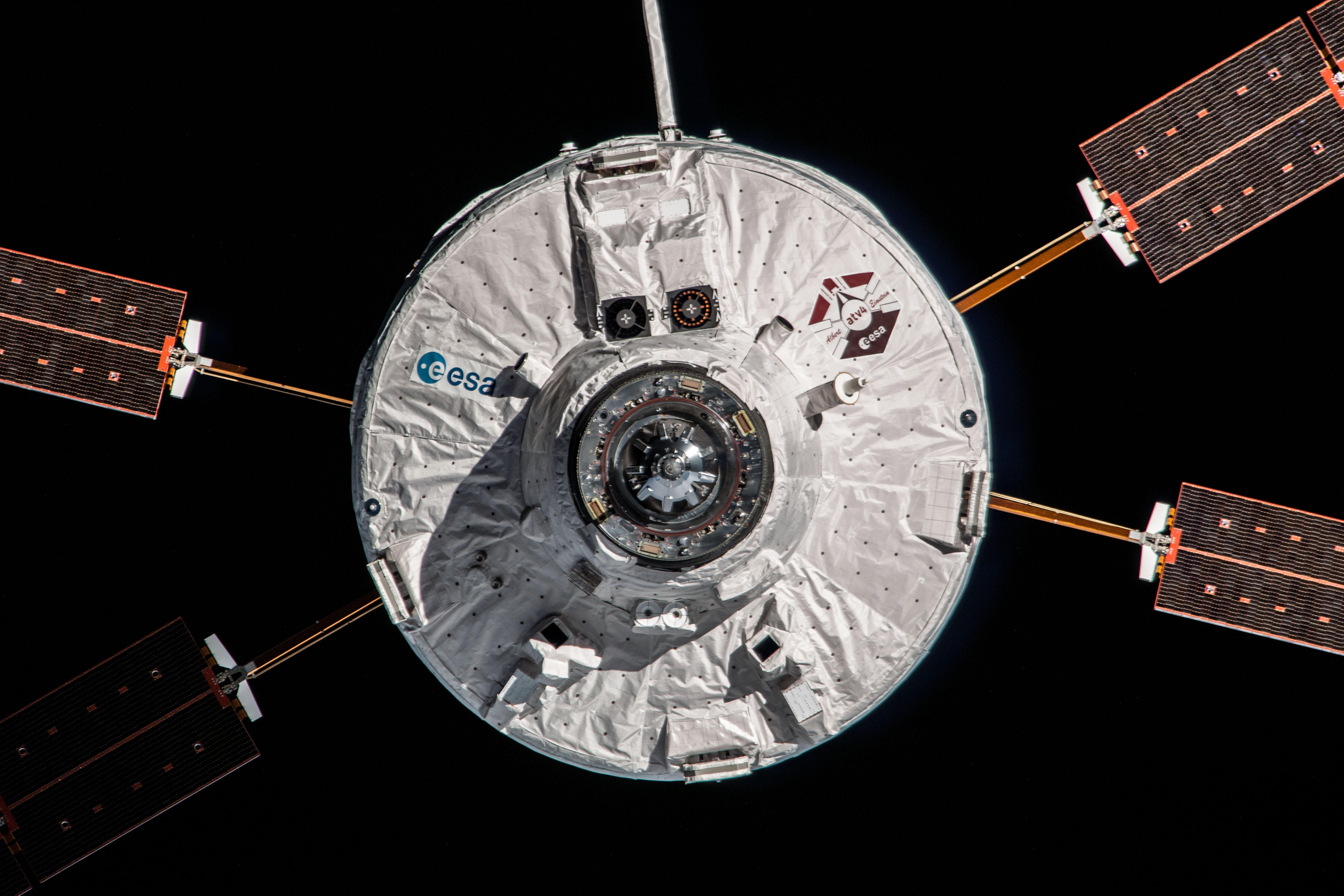 ATV-4 Ferry Docking at ISS