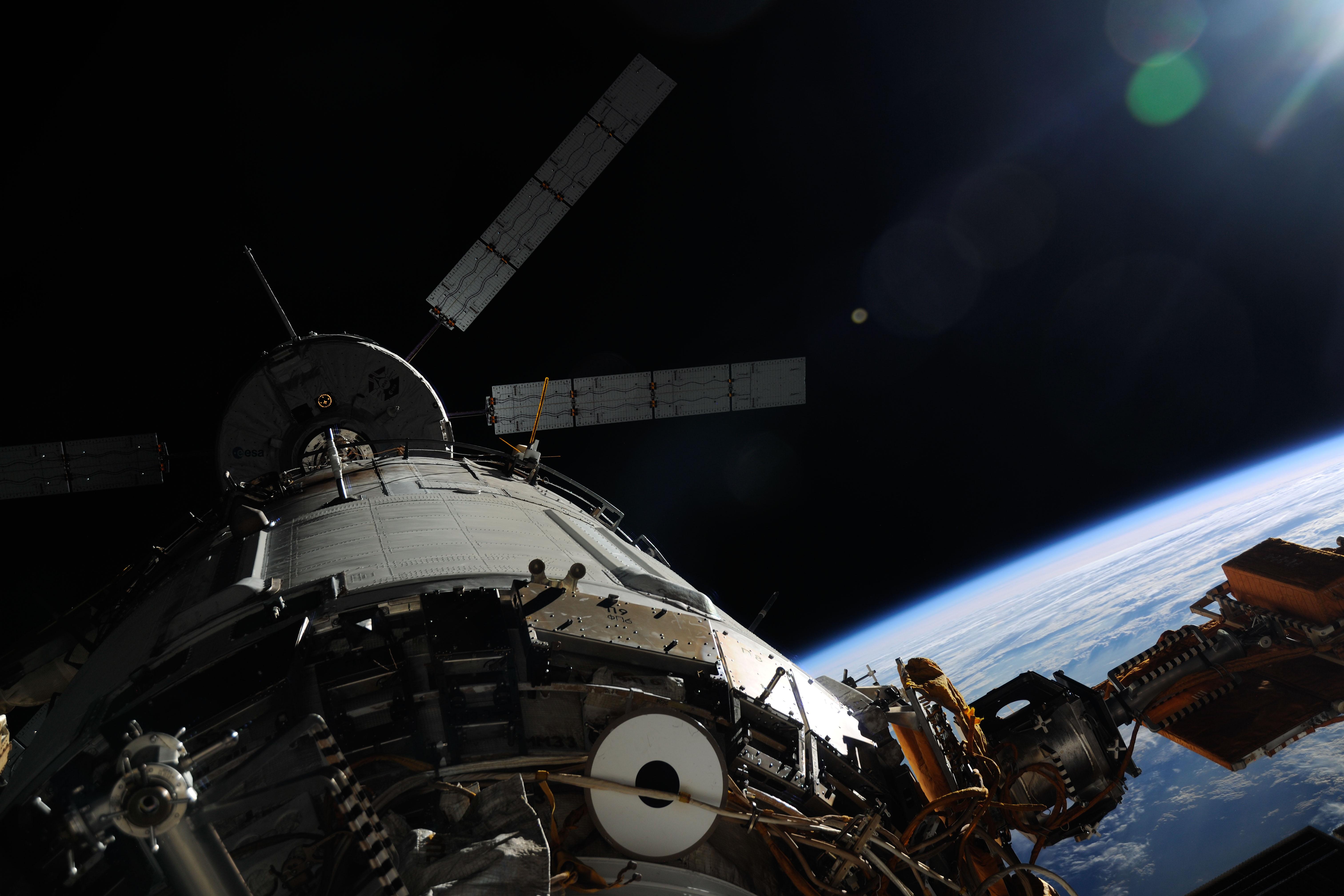 Close-up of ATV-4 Docking at ISS