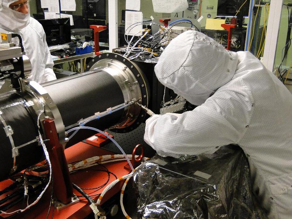 Working On IRIS Spectrometer