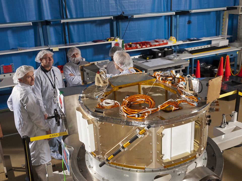 IRIS Spacecraft Bus in Cleanroom