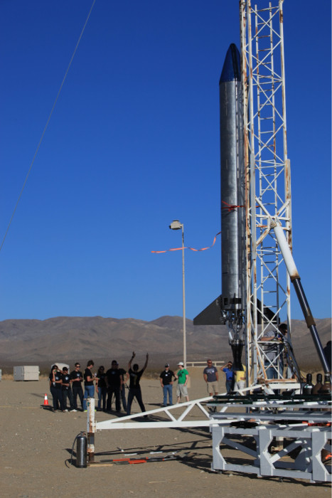 Students Gather Near Prospector-18D Rocket