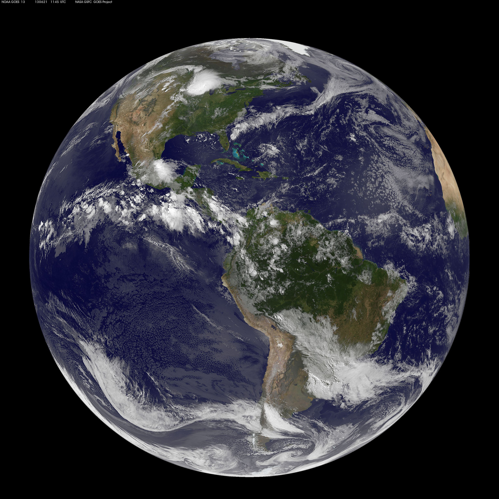 Satellite Photo Shows Earth's Summer Solstice from Space