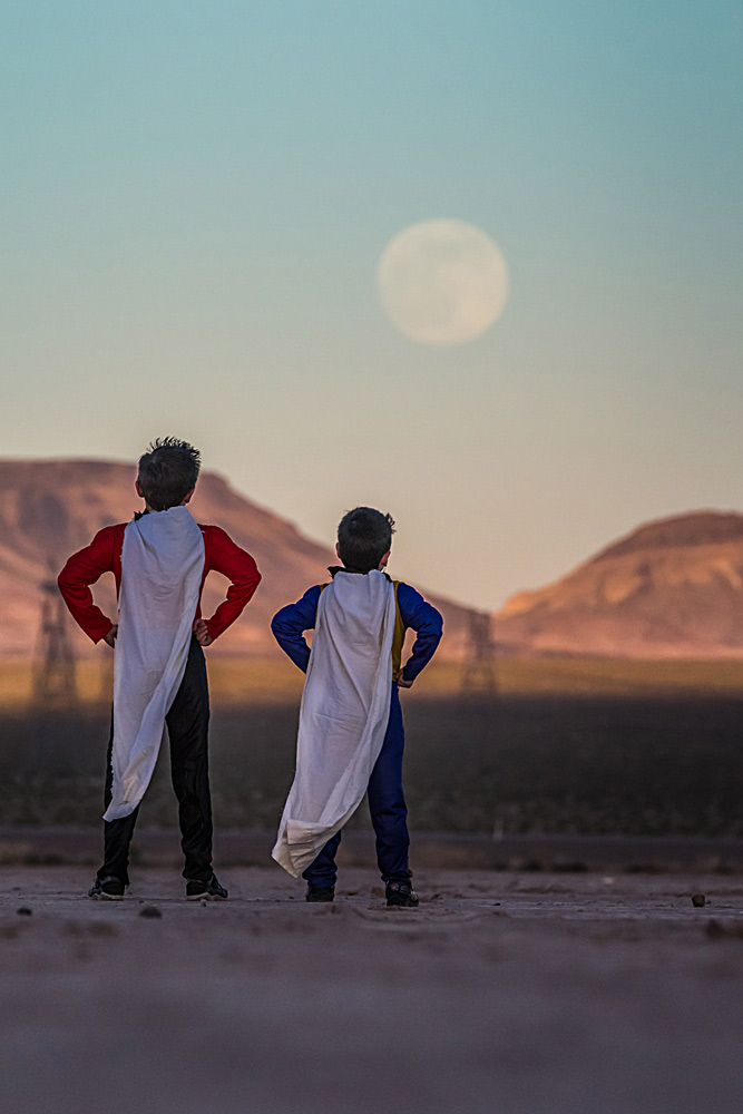 Super Kids See Supermoon