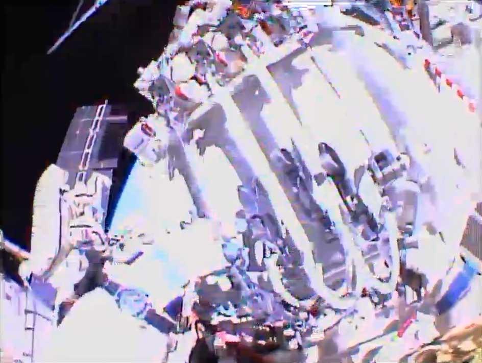 Russian Cosmonauts Complete Spacewalk Task