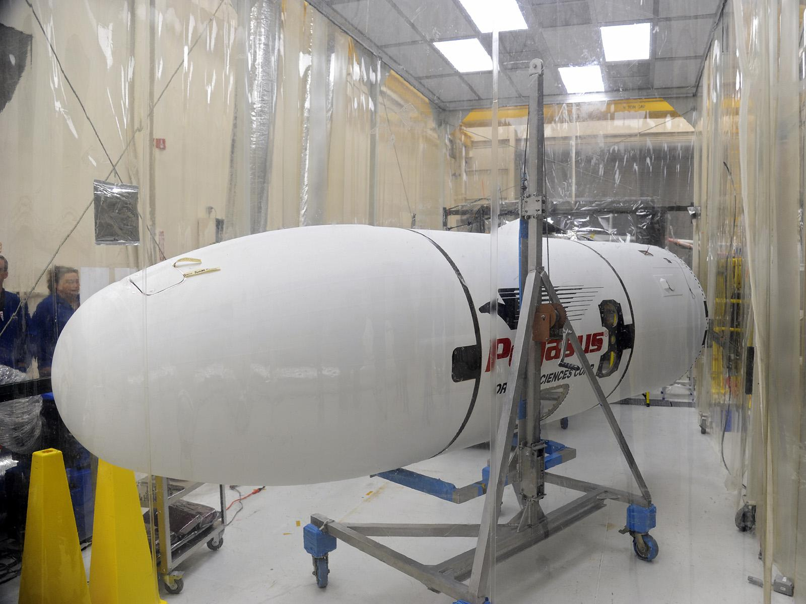 Payload Fairing Moved for Installation