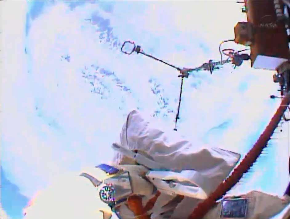 Earth from Space on Russian Spacewalk