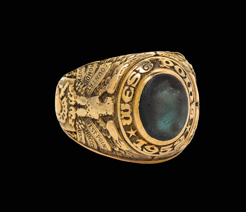 West Point Ring Worn in Space