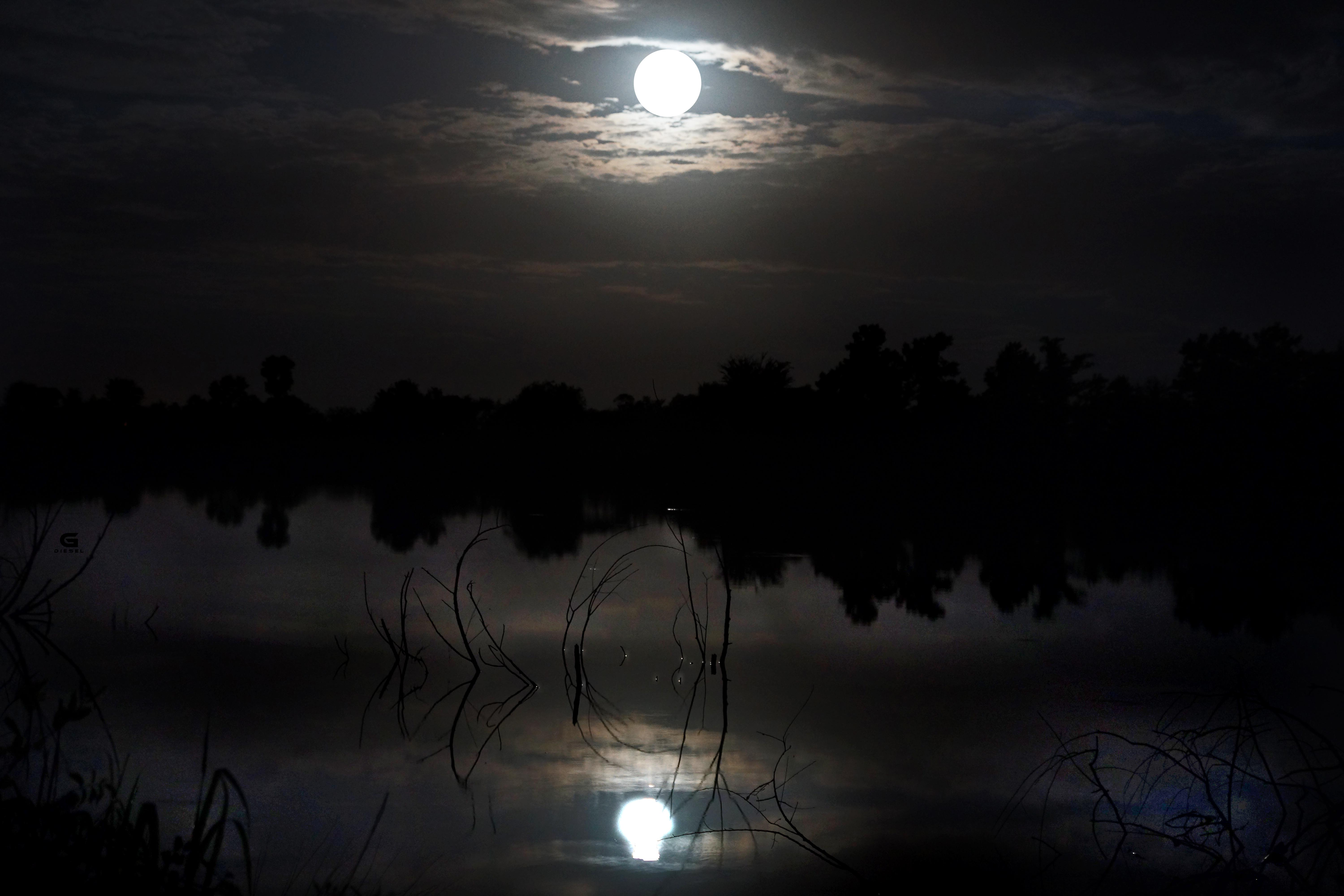 Supermoon and a Lake
