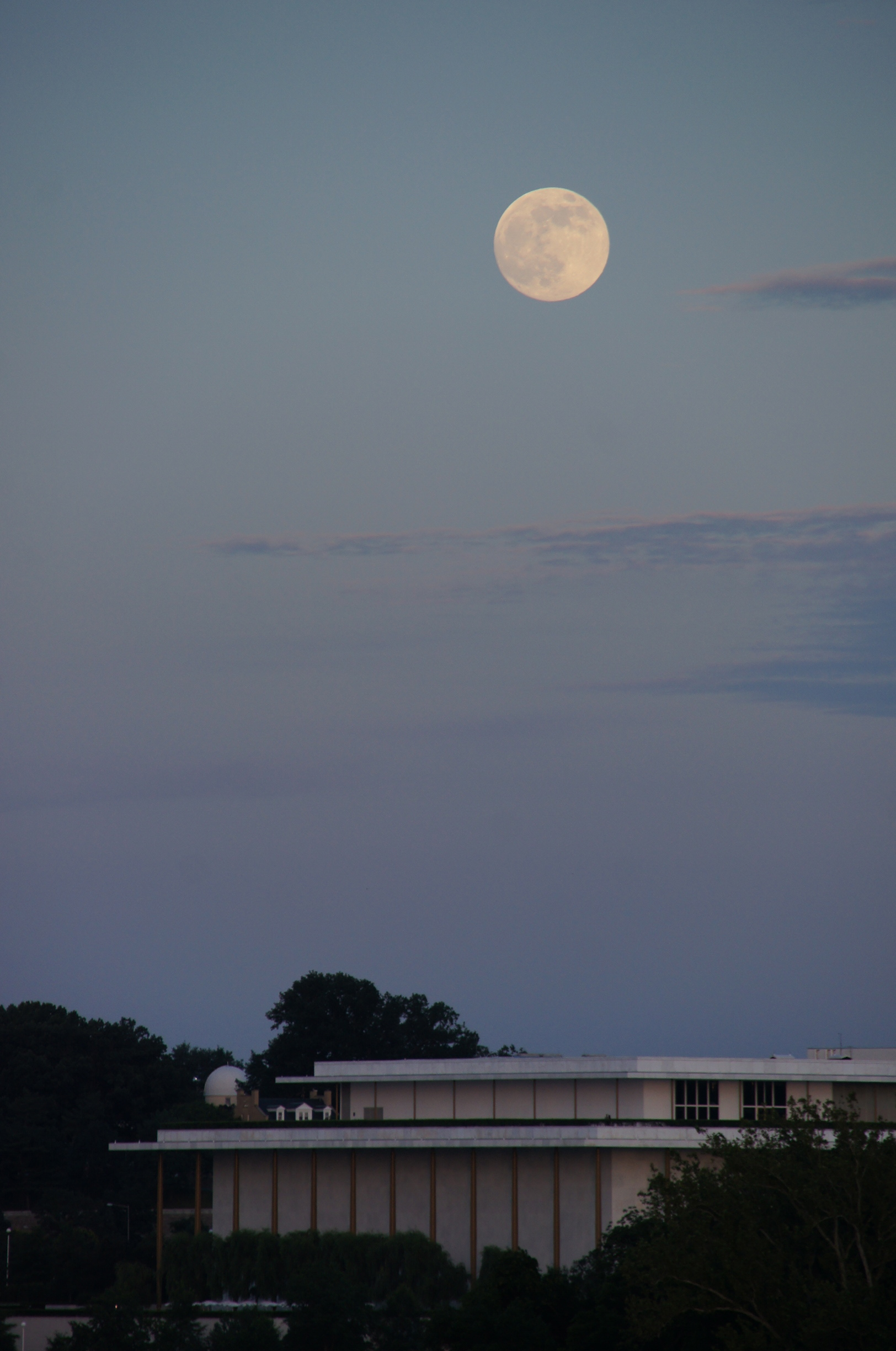 Supermoon Over the Kennedy Center