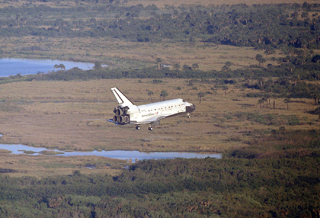 Space History Photo: STS-56 Landing