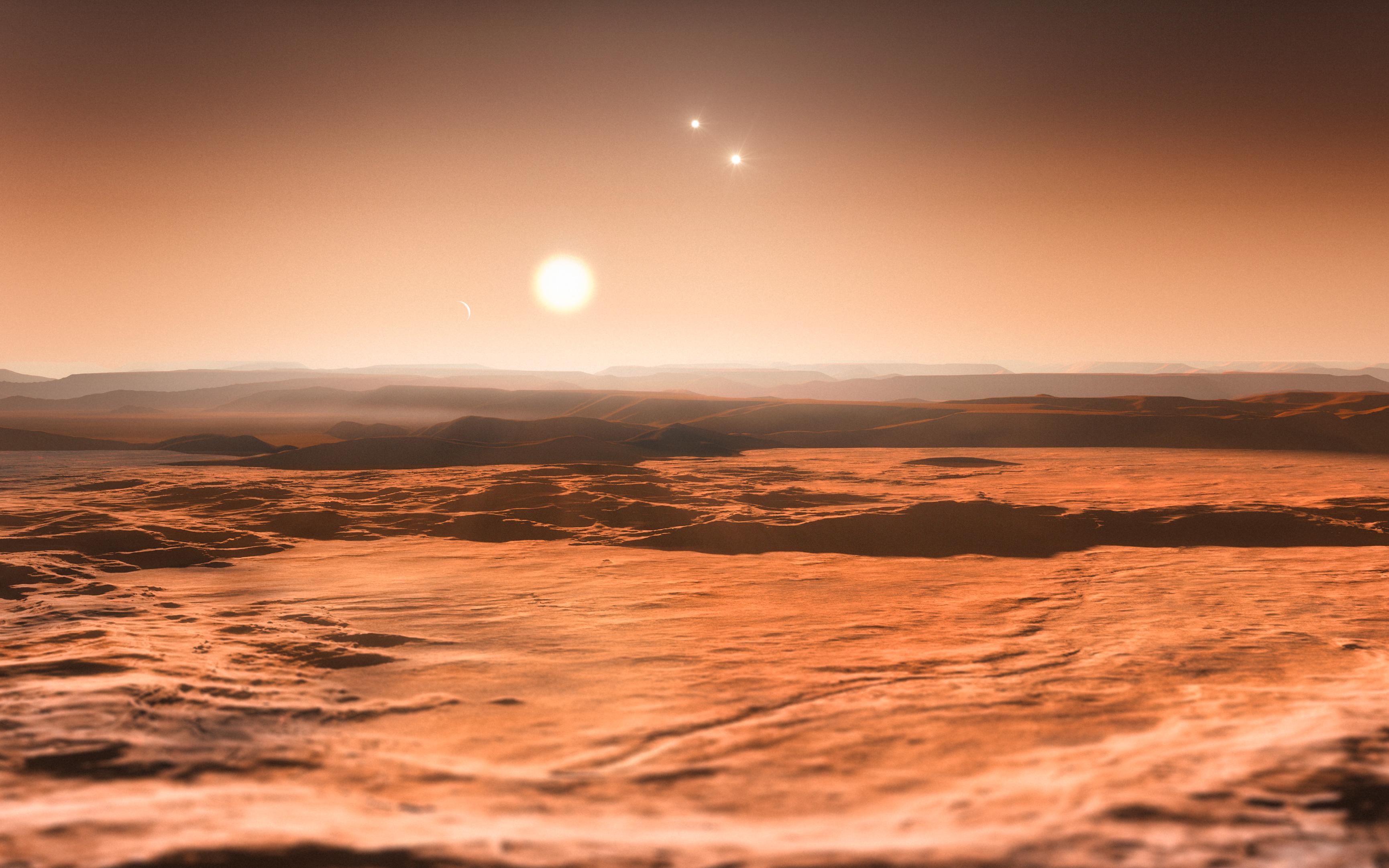 Artist Impression of Gliese 667C Star System