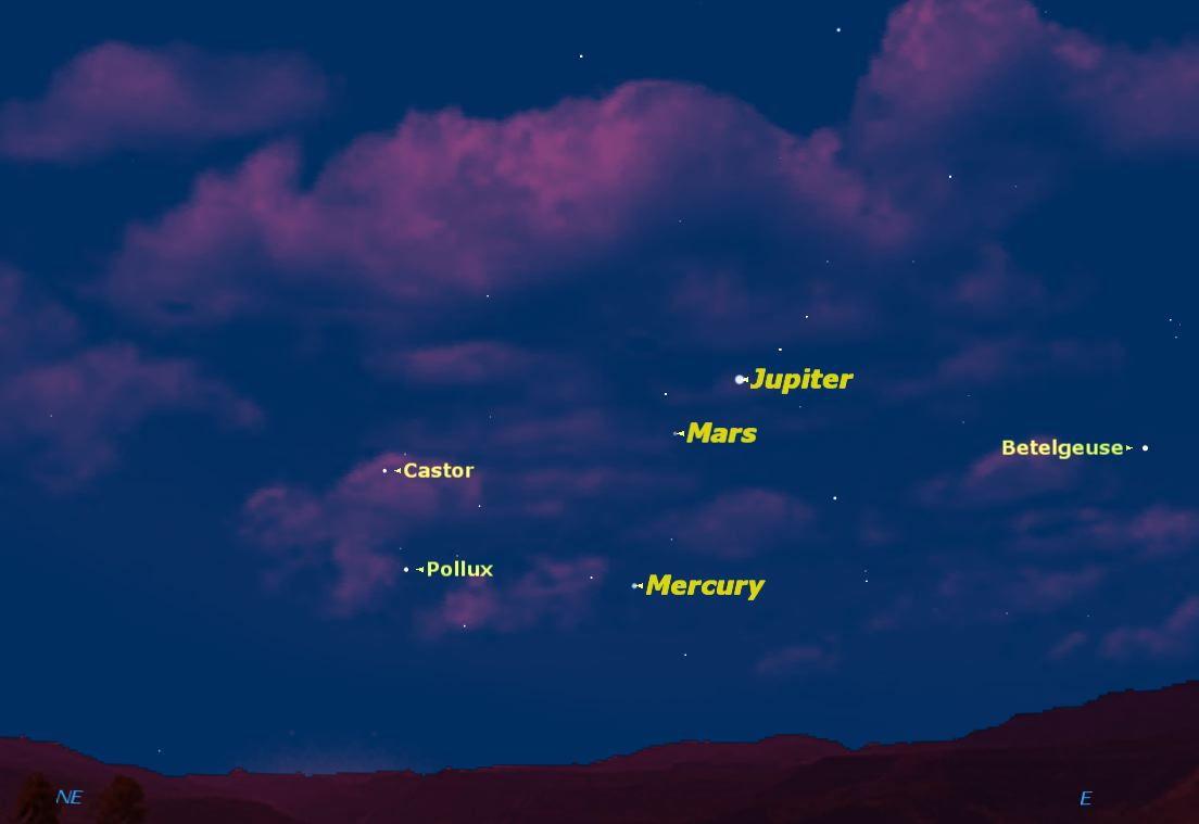 Mercury at Greatest Elongation West