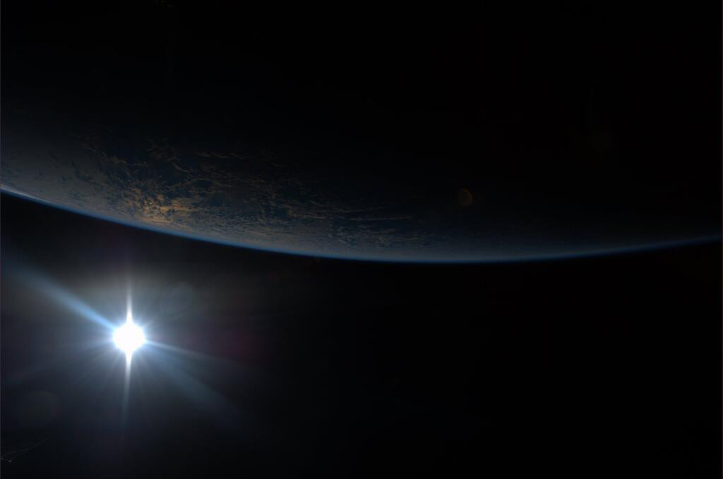 Sunset Seen From the International Space Station