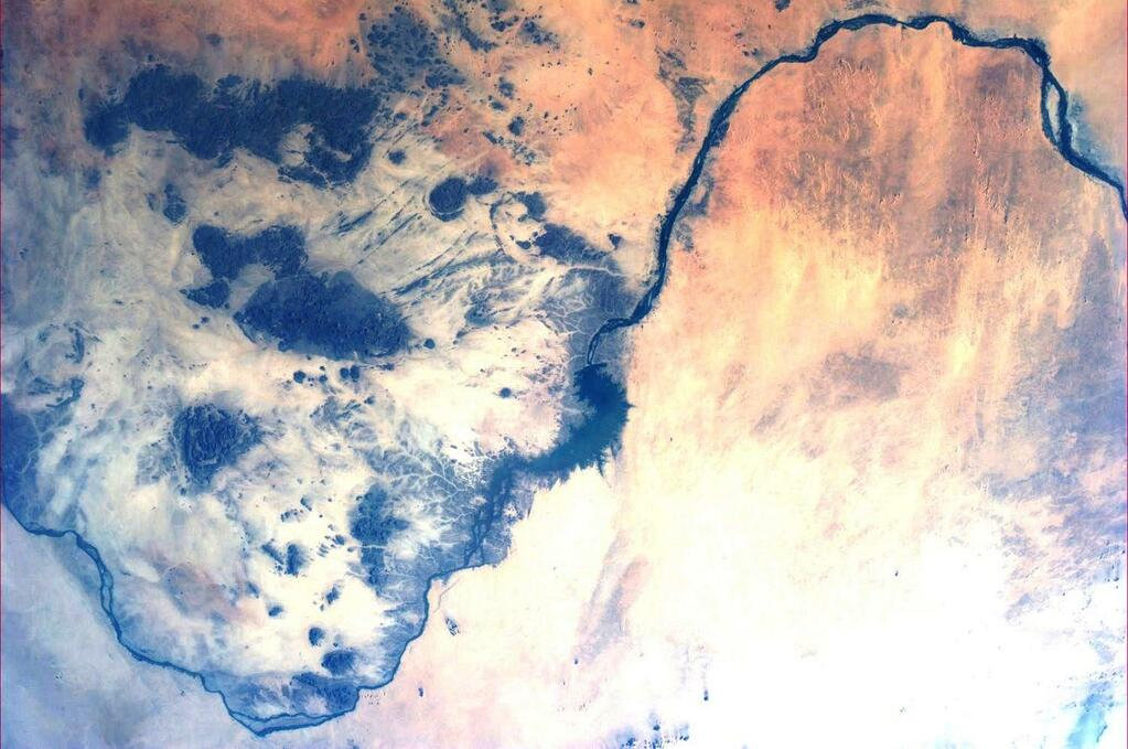 Nile River Flowing in Sudan