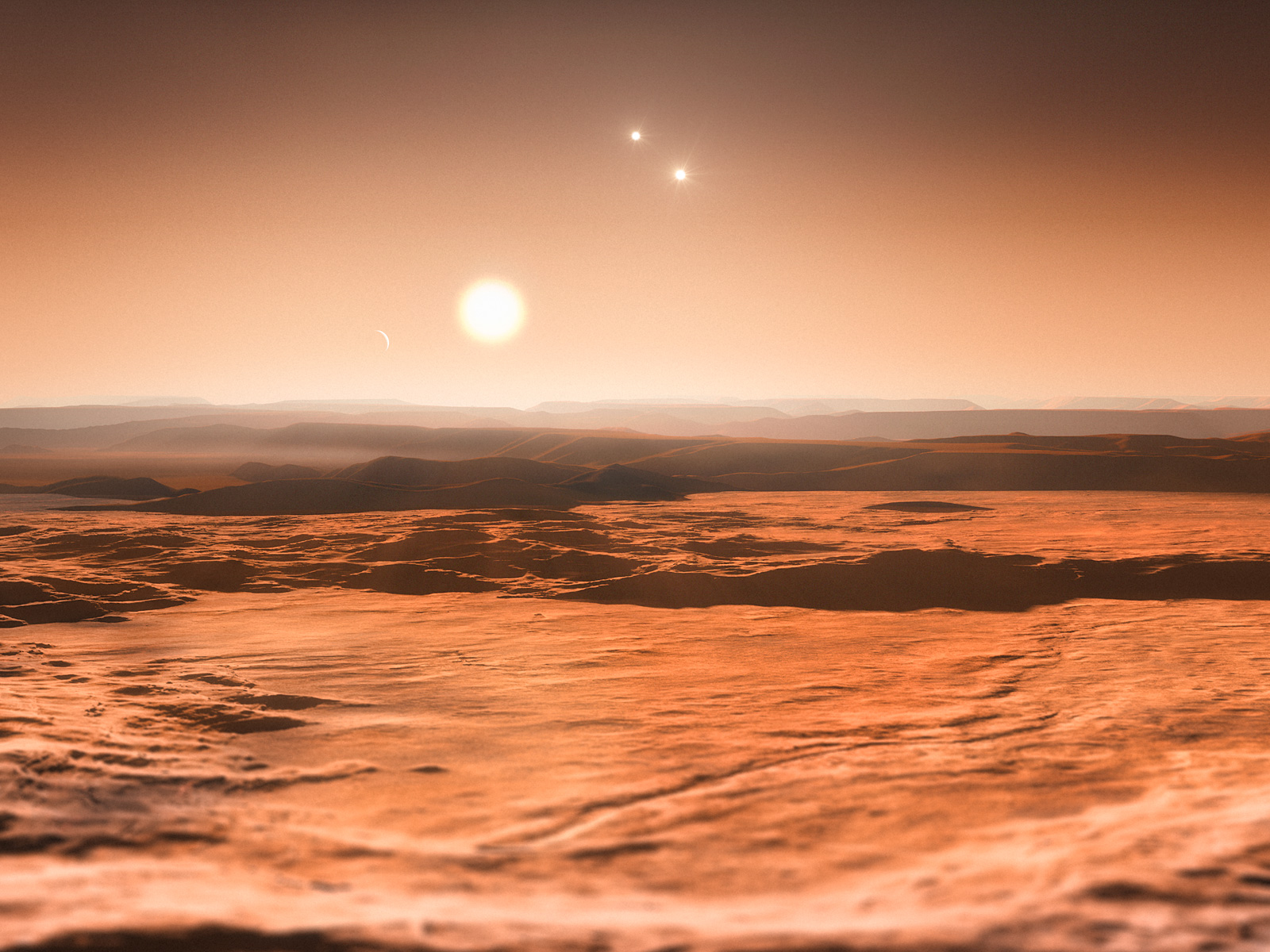 Artist Impression Gliese 667C System space wallpaper
