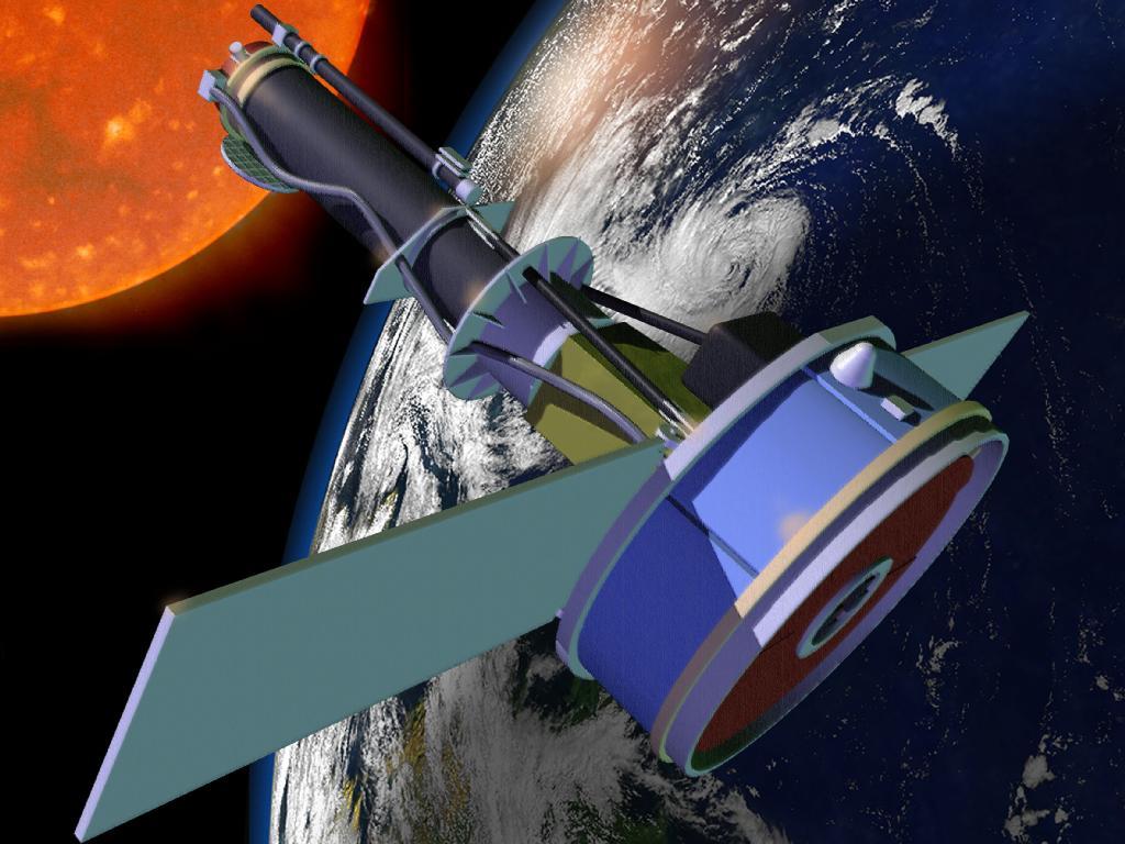 NASA's IRIS Sun-Watching Telescope: Artist's View