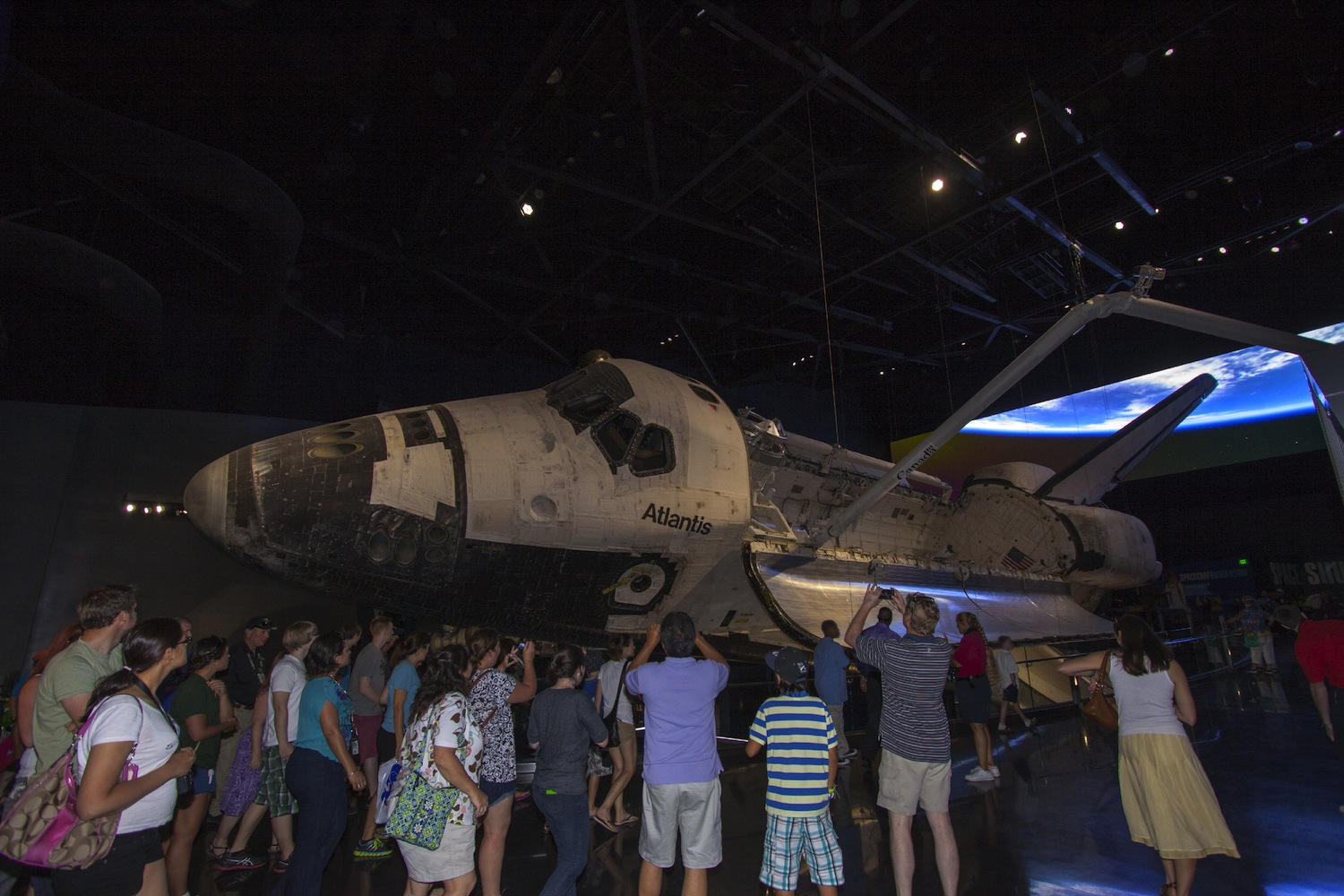 Tour Gets Up Close to Shuttle