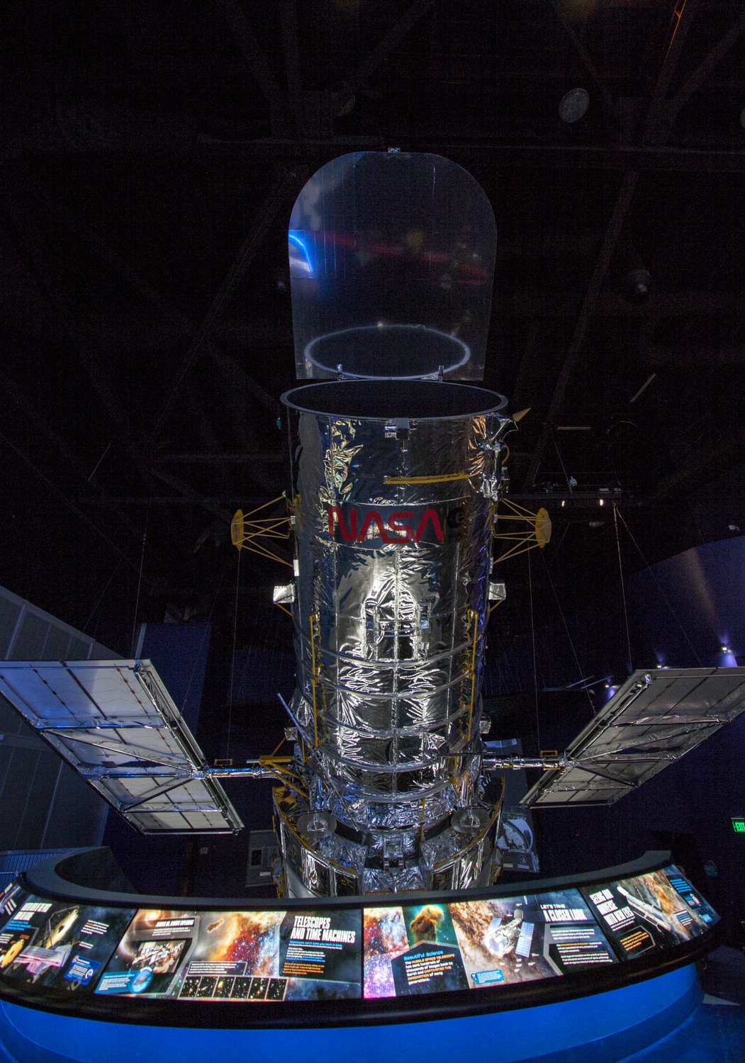 Full-Scale Replica of Hubble Telescope