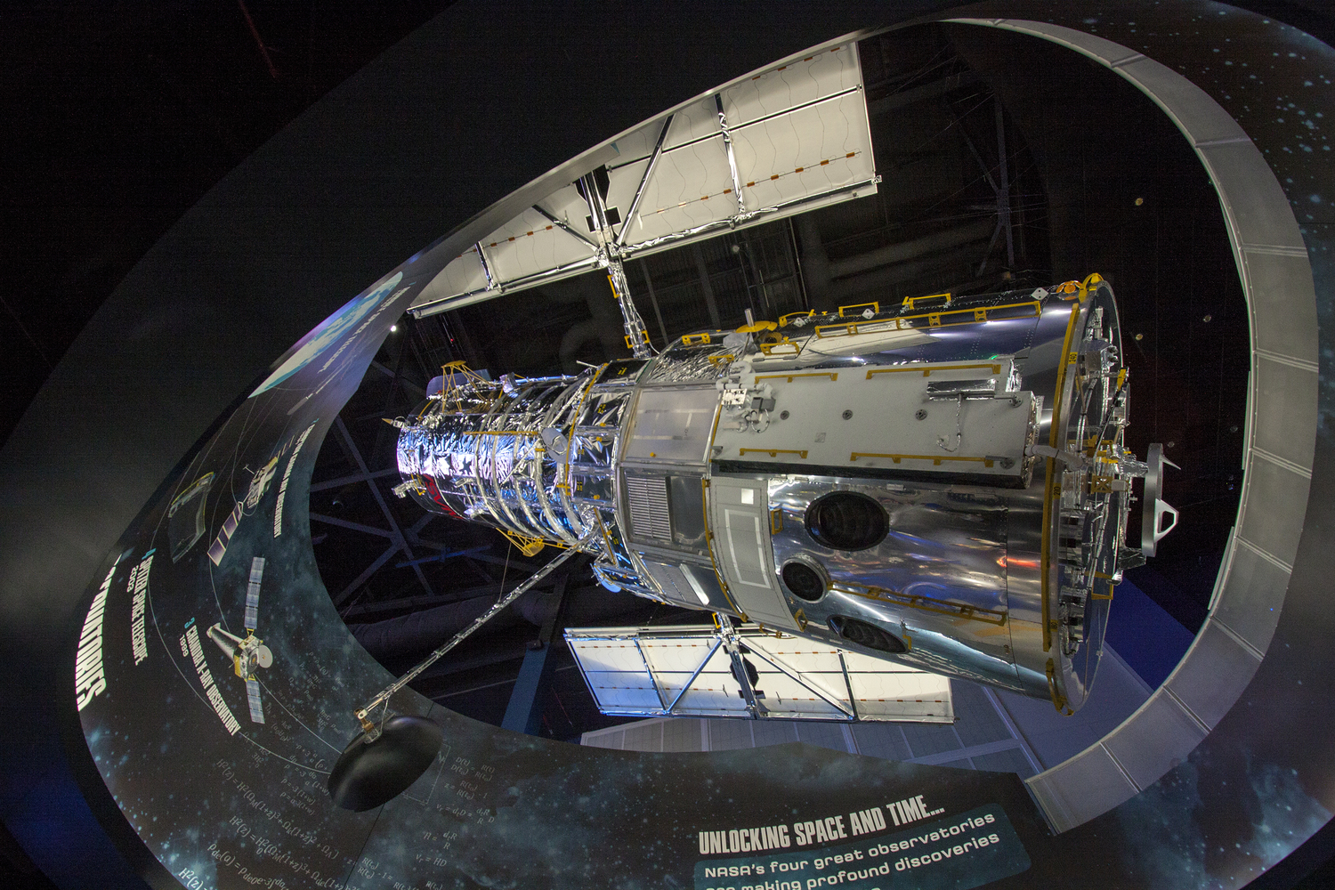 Hubble Telescope Replica