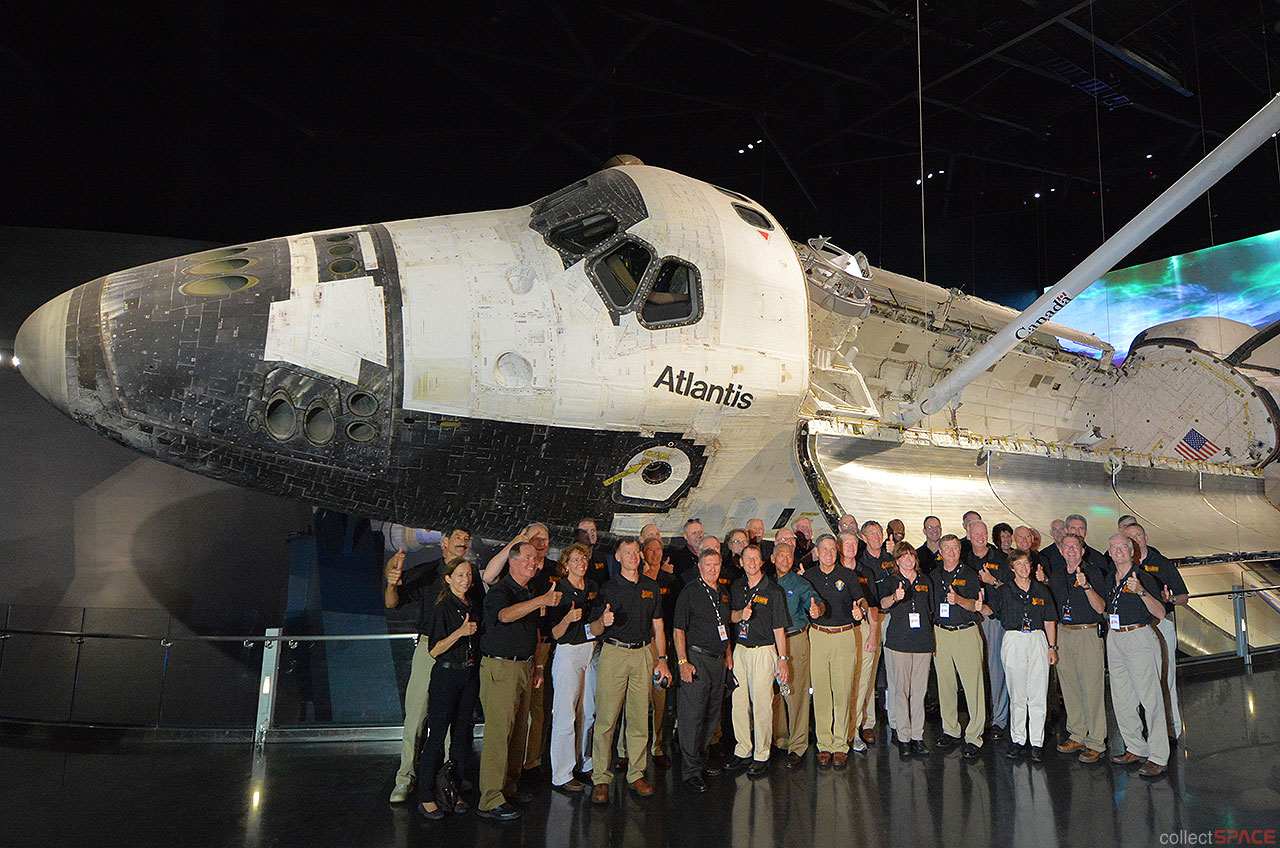Space Shuttle Atlantis Exhibit: Astronaut Attendees