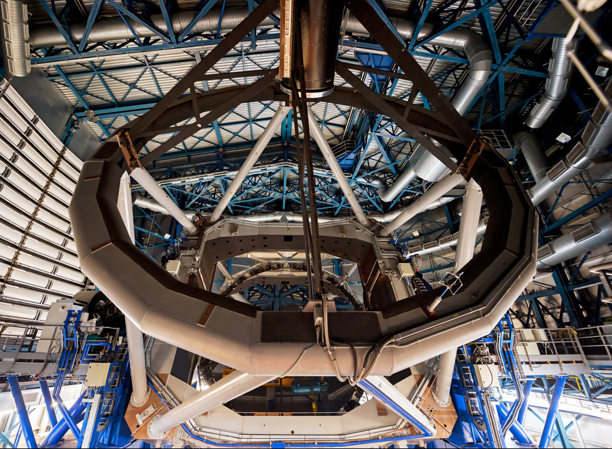 Interior of the Very Large Telescope in 'Hidden Universe'