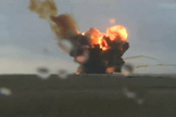 A massive explosion erupts after a Russian rocket crashes into the ground following a failed launch from Baikonur Cosmodrome in Kazakhstan on July 2, 2013 Local Time.