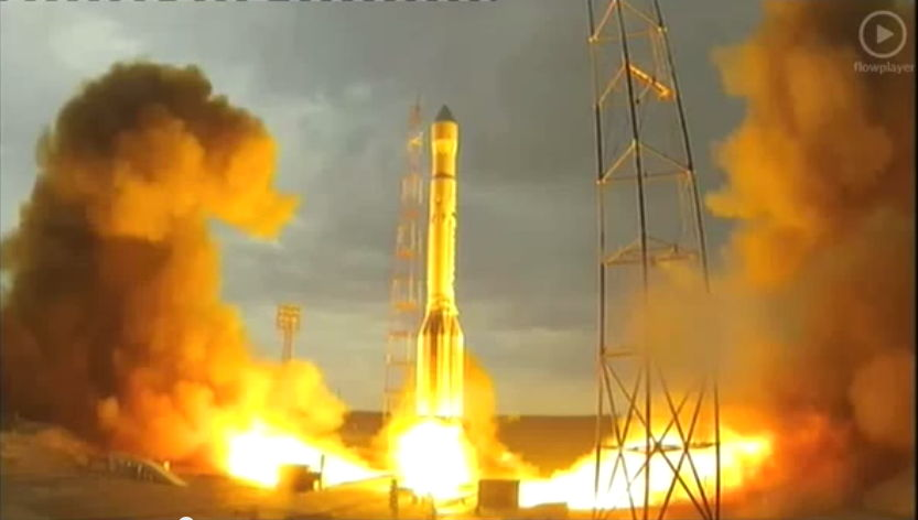 Proton Rocket Before Failure