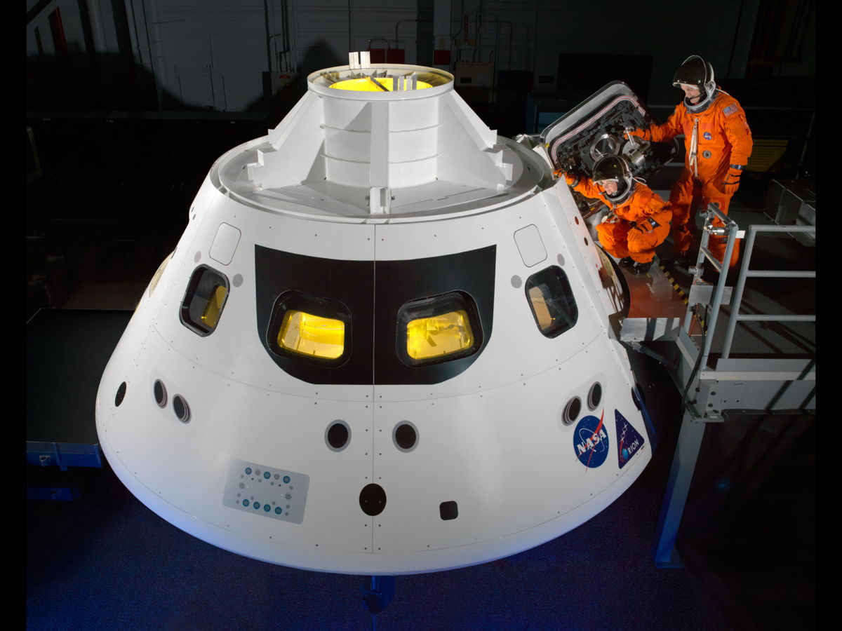 Stepping Into Orion Crew Module