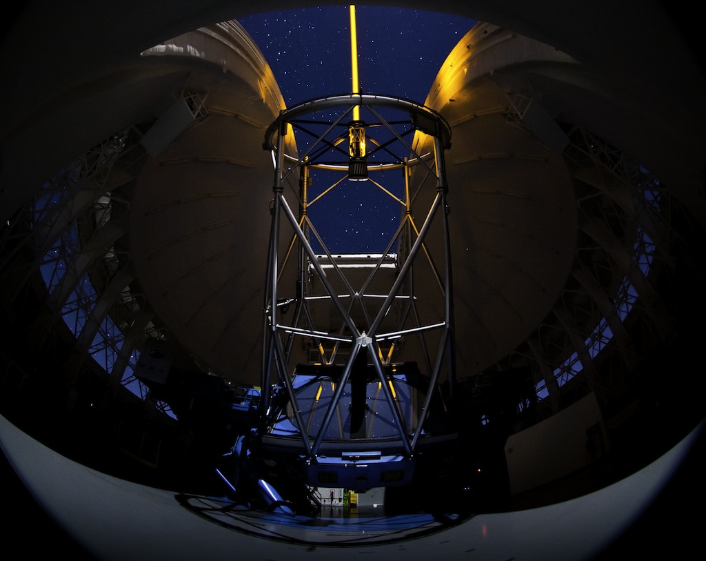 Gemini South Telescope During Laser Operations
