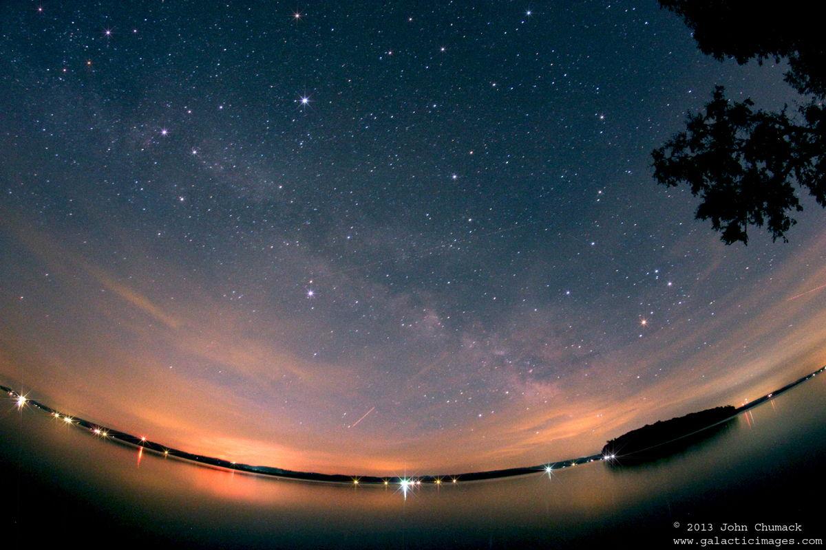 Milky Way Galaxy above Rice Lake, Keene, Ontario, Canada