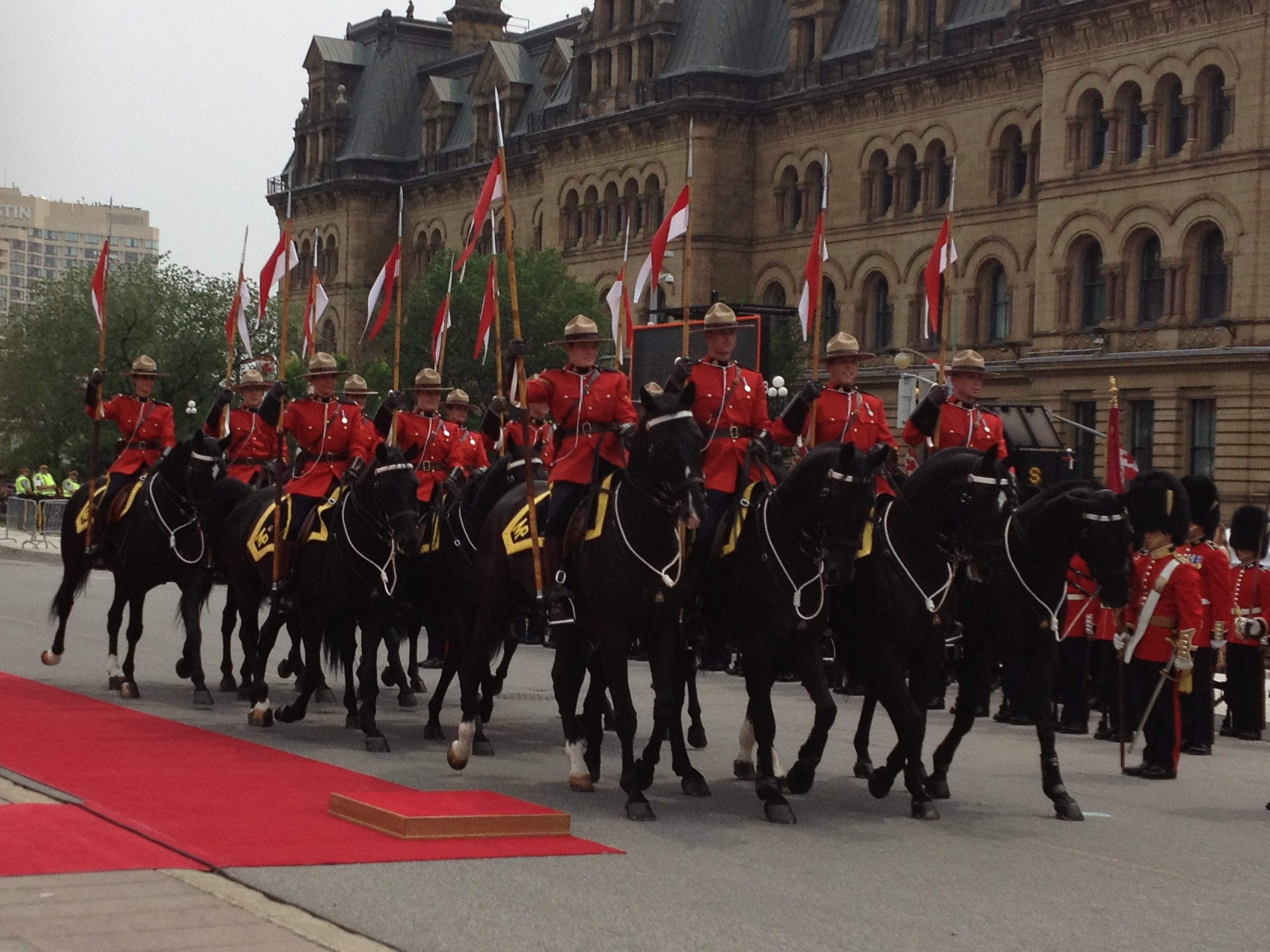 Royal Canadian Mounted Police Arrive