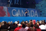 Canadian astronaut Chris Hadfield performs on Ottawa's Parliament Hill.