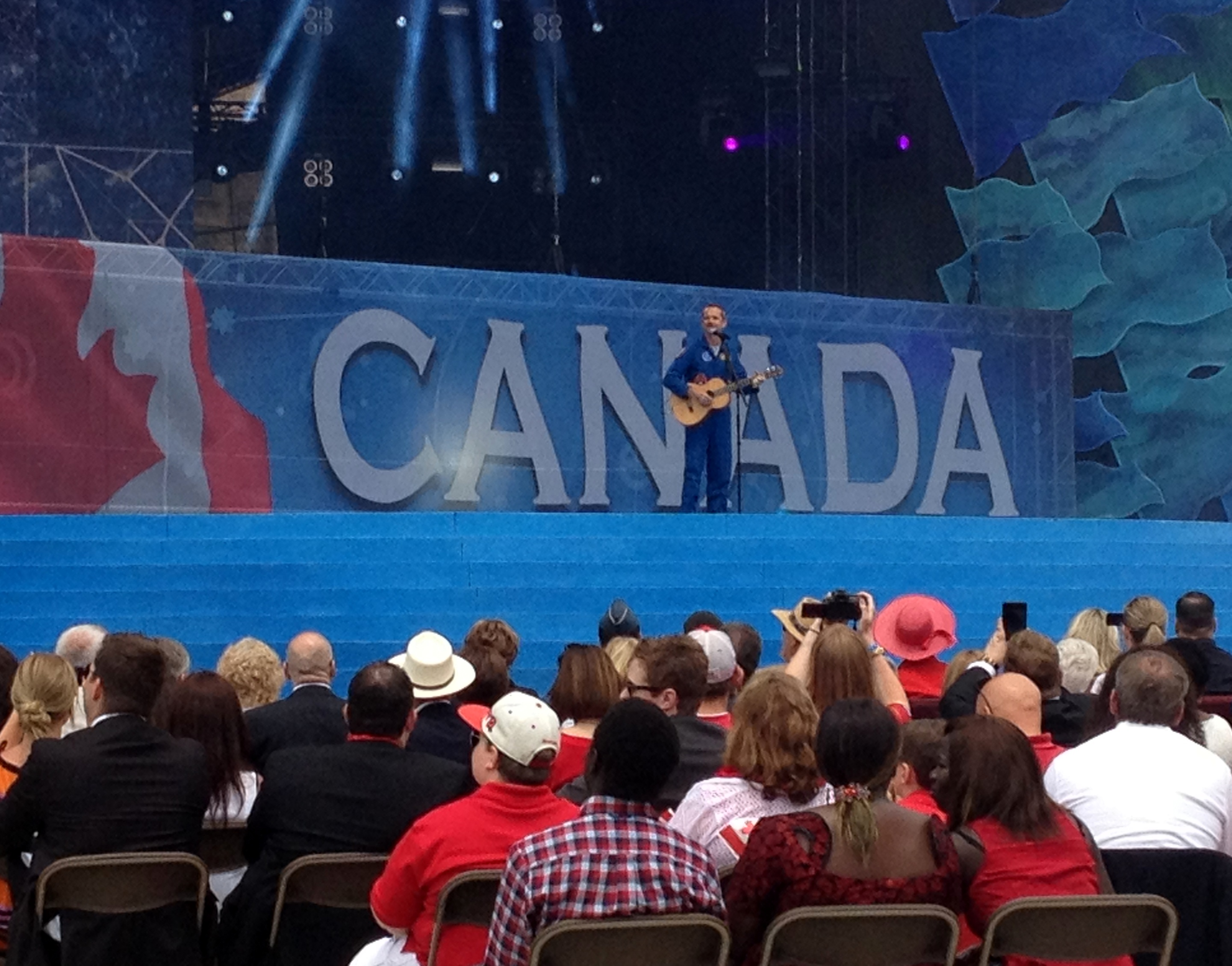 Hadfield Performs on Parliament Hill